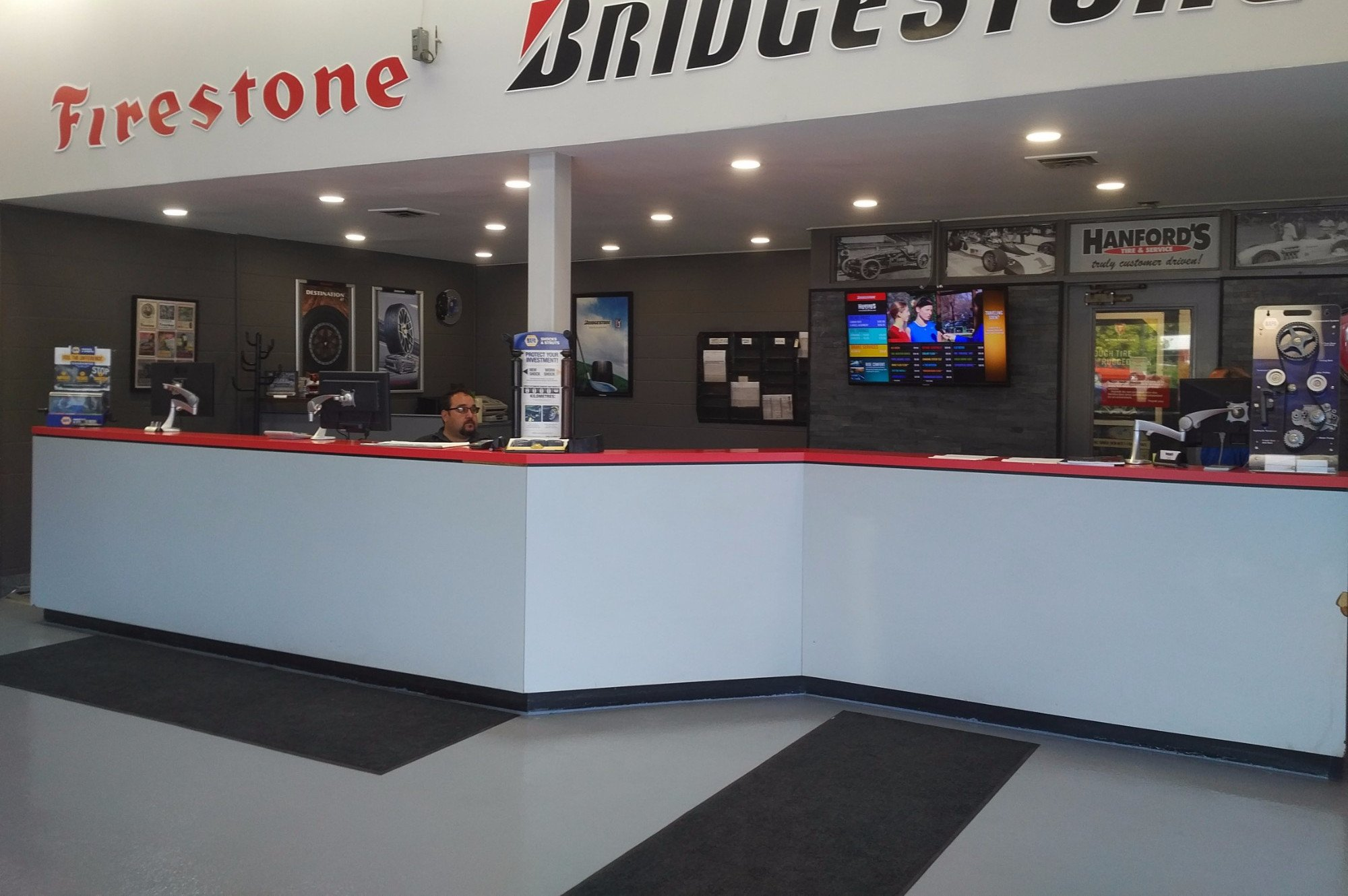 Wharncliffe Hanford Tire and Service Showroom